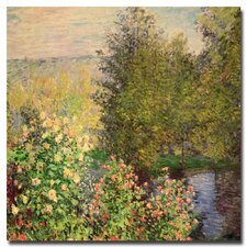 """Corner of the Garden at Montgeron, 1876"" by Claude Monet Painting Print on Canvas"