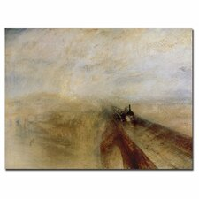 "<strong>Trademark Fine Art</strong> ""Rain, Steam and Speed, 1844"" Canvas Art"