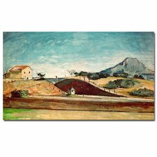 """The Railway Cutting, 1870"" by Paul Cezanne Painting Print on Canvas"