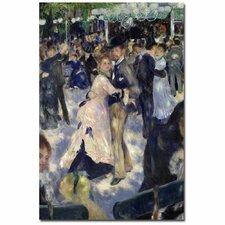 """""""Le Moulin De La Galette"""" by Pierre-Auguste Renoir Painting Print on Canvas"""