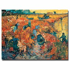 """Red Vineyards at Arles, 1888"" Canvas Art"