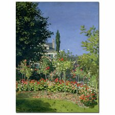 "<strong>Trademark Fine Art</strong> ""Flowering Garden at Sainte-Adresse, 1866"" Canvas Art"