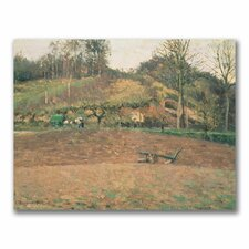"""""""Ploughland"""" by Camille Pissaro Painting Print on Canvas"""