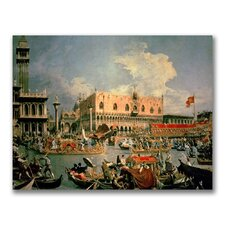 "<strong>Trademark Fine Art</strong> ""Return of the Bucintoro"" Canvas Art"