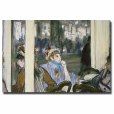 """Women on a Cafe Terrace, 1877"" by Edgar Degas Painting Print on Canvas"