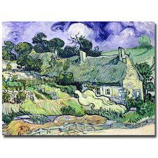 """Cottages at Auvers-Sur-Oise"" by Vincent Van Gogh Painting Print on Canvas"