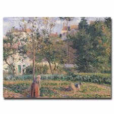 """""""Vegetable Garden Pontoise, 1879"""" by Camille Pissarro Painting Print on Canvas"""