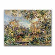 """Landscape at Beaulieu"" by Pierre Renoir Painting Print on Canvas"