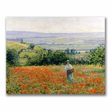 "<strong>Trademark Fine Art</strong> ""Woman in a Poppy Field"" Canvas Art"