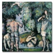 """The Five Bathers"" by Paul Cezanne Painting Print on Canvas"