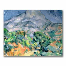 """Mont Sainte-Victories"" by Paul Cezanne Painting Print on Canvas"