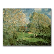 "<strong>Trademark Fine Art</strong> ""The Garden of Hoschede Family"" Canvas Art"