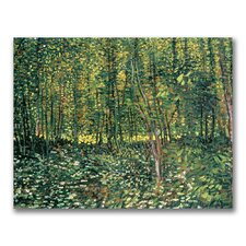 """Tree and Undergrowth, 1887"" by Vincent Van Gogh Painting Print on Canvas"