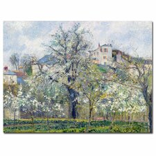 """""""The Garden at Pontoise, 1877"""" by Camille Pissarro Painting Print on Canvas"""