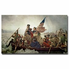 """Washington Crossing Delaware River in, 1776"" by Emanuel Leutze Painting Print on Canvas"