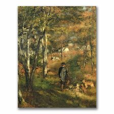 """""""Jules Le Coeur in the Forest"""" by Pierre Renoir Painting Print on Canvas"""