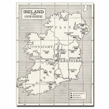 "<strong>Trademark Fine Art</strong> ""Map of Ireland in the Sixth Century"" Canvas Art"