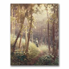 "<strong>Trademark Fine Art</strong> ""A Woodland Glade"" Canvas Art"