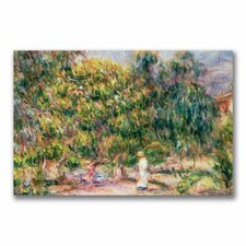 """Garden of Les Colettes"" by Pierre Renoir Painting Print on Canvas"