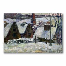 "<strong>Trademark Fine Art</strong> ""Brenton Village Under Snow"" Canvas Art"