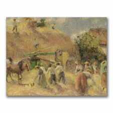 """""""The Harvest"""" by Camille Pissarro Painting Print on Canvas"""