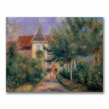 """""""Renior's House at Essoyes"""" by Pierre Renoir Painting Print on Canvas"""