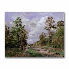 "<strong>Trademark Fine Art</strong> ""The Road to Louveciennes Edge"" Canvas Art"