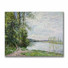 "<strong>Trademark Fine Art</strong> ""The Riverside Road from Veneux"" Canvas Art"