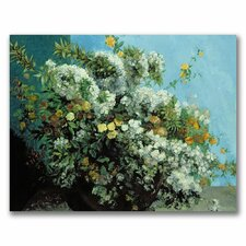 "<strong>Trademark Fine Art</strong> ""Flowering Branches and Flowers"" Canvas Art"