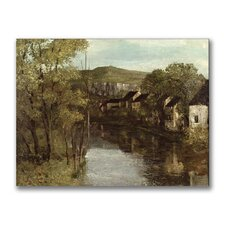 """""""The Refection of Ornans"""" Painting Print on Canvas by Gustave Courbet"""
