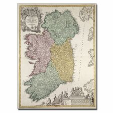 """Map of Ireland, 1730"" Canvas Art"