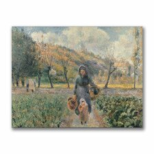 """""""In the Garden"""" by Camille Pissaro Painting Print on Canvas"""