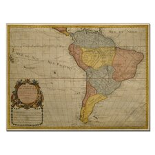 "<strong>Trademark Fine Art</strong> ""Map of South America, 1700"" Canvas Art"