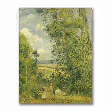 """""""A Rest in the Meadow"""" by Camille Pissarro Painting Print on Canvas"""