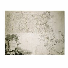 "<strong>Trademark Fine Art</strong> ""Map of the State of Massachusetts, 1801"" Canvas Art"