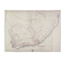 "<strong>Trademark Fine Art</strong> ""Map of Southern Africa, 1834"" Canvas Art"