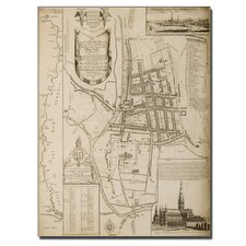 "<strong>Trademark Fine Art</strong> ""Map of Salisbury, 1751"" Canvas Art"