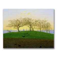 "<strong>Trademark Fine Art</strong> ""Hills and Ploughed Fields"" Canvas Art"