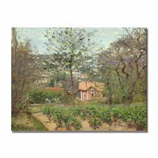 """""""The Cottage"""" by Camille Pissarro Painting Print on Canvas"""