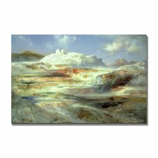 """Jupiter Terrace, Yellowstone"" by Thomas Moran Painting Print on Canvas"