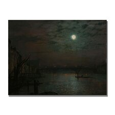 "<strong>Trademark Fine Art</strong> ""Southwark Bridge by Moonlight"" Canvas Art"