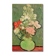 """""""Bouquet of Flowers"""" by Vincent Van Gogh Painting Print on Canvas"""