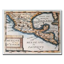 "<strong>Trademark Fine Art</strong> ""Map of Mexico or New Spain, 1625"" Canvas Art"