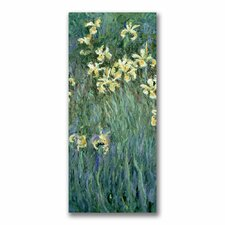 """The Yellow Irises"" by Claude Monet Painting Print on Canvas"