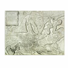 "<strong>Trademark Fine Art</strong> ""Map of the City of Rome, 1557"" Canvas Art"