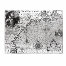 "<strong>Trademark Fine Art</strong> ""Coast of New England 1614"" Canvas Art"