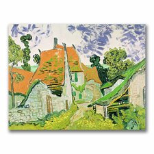 """Street in Auvers-sur-Oise"" by Vincent Van Gogh Painting Print on Canvas"