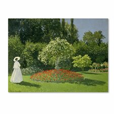 "<strong>Trademark Fine Art</strong> ""Jeanne Marie Lecadre in the Garden"" Canvas Art"