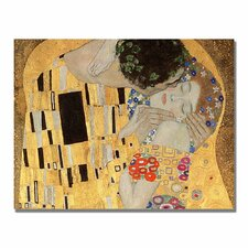 """The Kiss"" by Gustav Klimt Painting Print on Canvas"