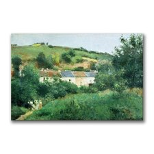 """""""The Path in the Village"""" by Camille Pissarro Painting Print on Canvas"""
